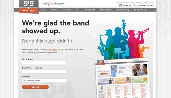 error 404 gigmasters