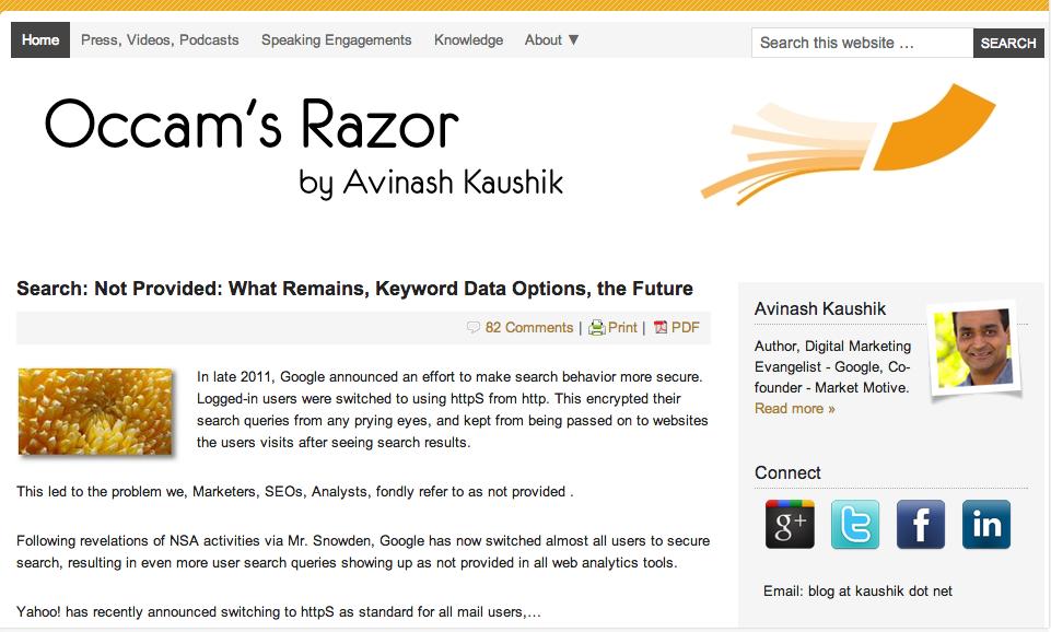 El blog de Avinash Kaushik