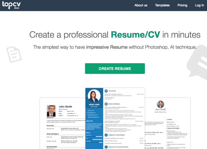 5 herramientas online para hacer un Curriculum gratis