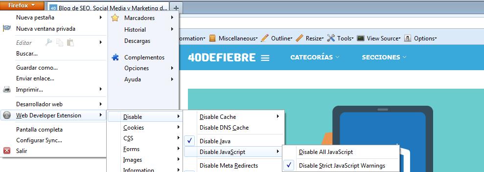 Firefox Cómo hacer una web optimizada para SEO