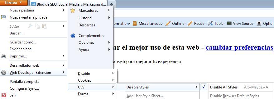 css firefox Cómo hacer una web optimizada para SEO