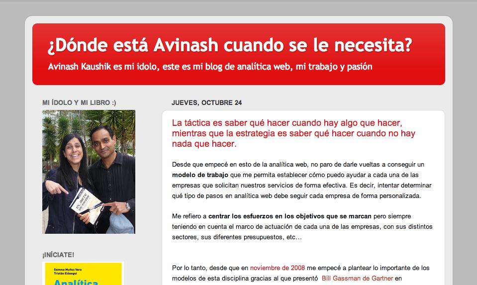Dónde está Avinash cuando se le necesita - Gemma Muñoz