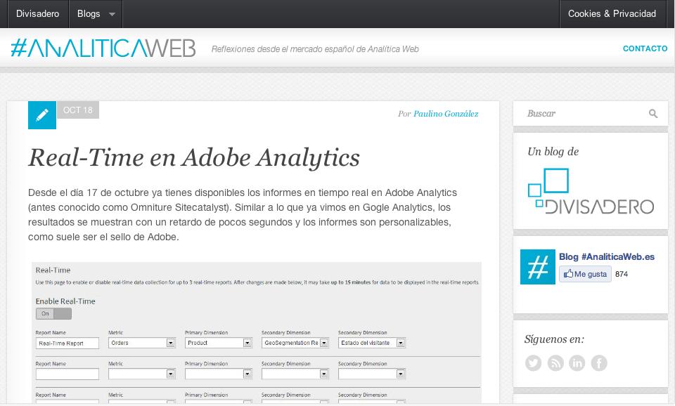 Analítica web - El blog de Divisadero