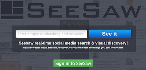 SeeSaw1 20 herramientas donde monitorizar un hashtag
