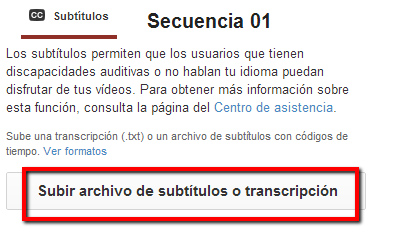 Transcripción YouTube