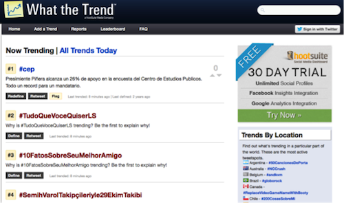 What the trend1 20 herramientas donde monitorizar un hashtag