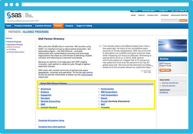 Muchas páginas tienen una sección específica para partners y acuerdos comerciales. ¡Presta atención a posibles alianzas!