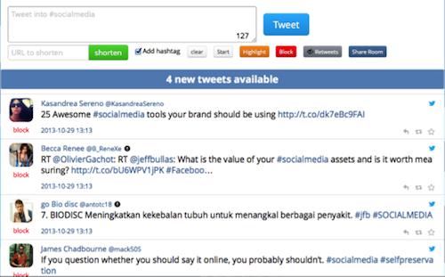 tweetchat1 20 herramientas donde monitorizar un hashtag