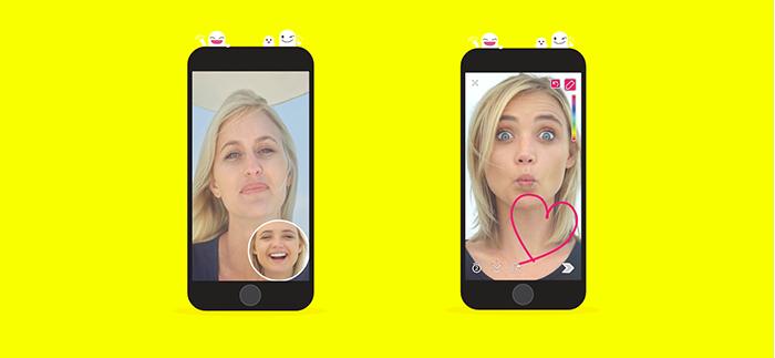 Ejemplo de videollamada de Snapchat