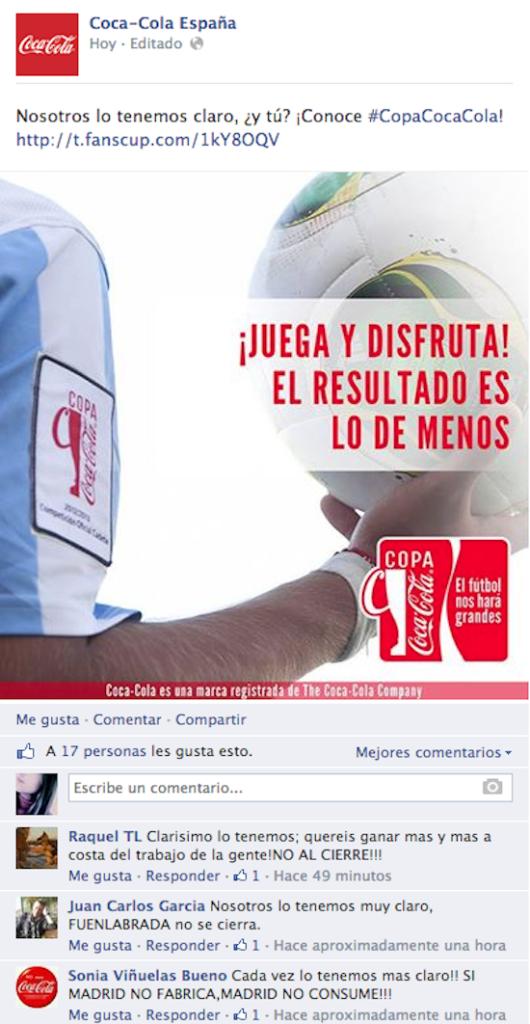 Coca Cola 530x1024 Redes sociales: la panacea de la atención al cliente