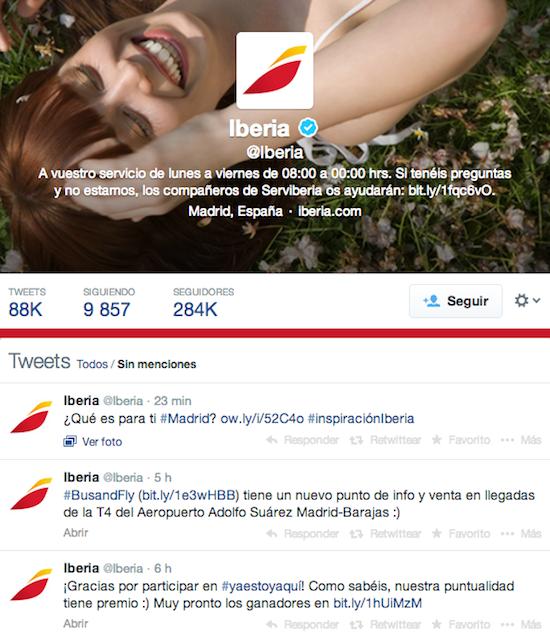 Iberia Redes sociales: la panacea de la atención al cliente