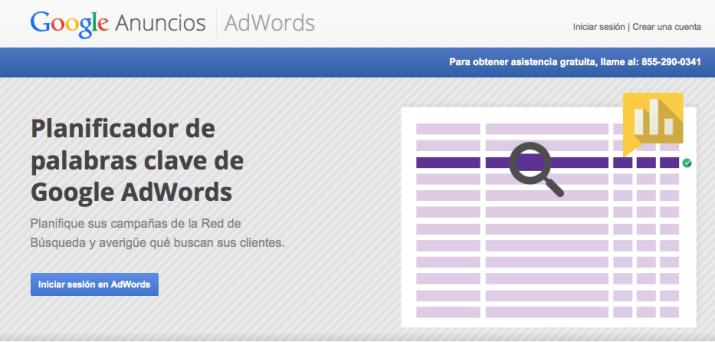 Planificador de Palabras Clave de Adwords