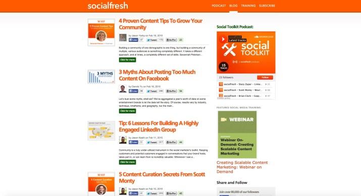 Blog Social Fresh