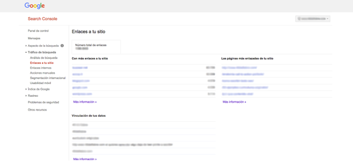 Cómo ver anchor text en Google Search Console