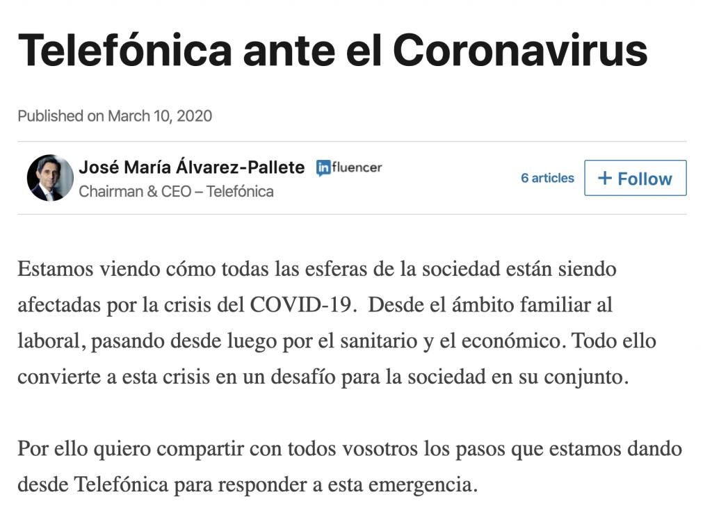 Coronavirus y emergencias en redes sociales ¿qué hacer y qué no? - FIO