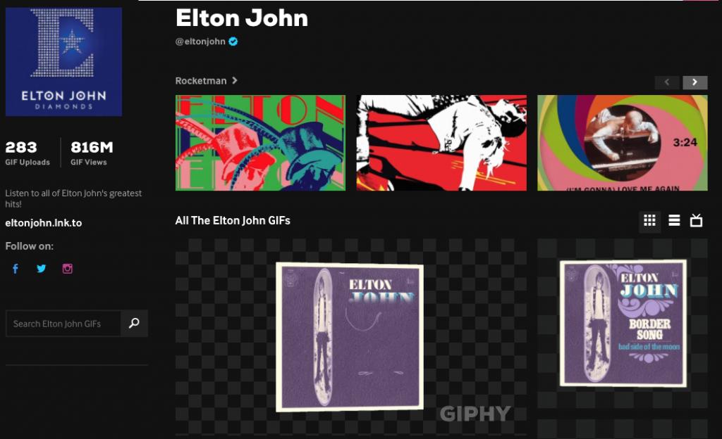 Gif Elton John